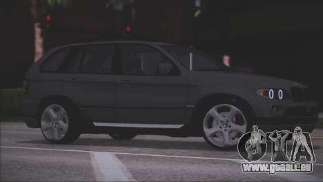 BMW X5 E53 pour GTA San Andreas vue de dessous