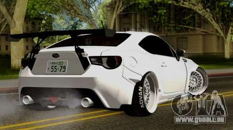Subaru BRZ 2010 Rocket Bunny v1 pour GTA San Andreas laissé vue