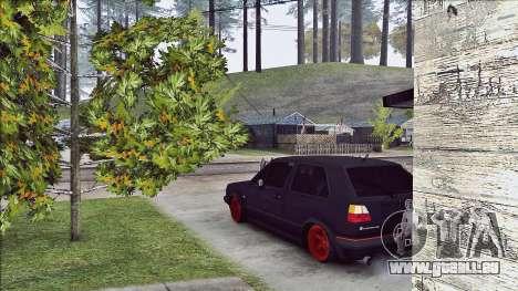 Volkswagen Golf Mk2 Line für GTA San Andreas zurück linke Ansicht