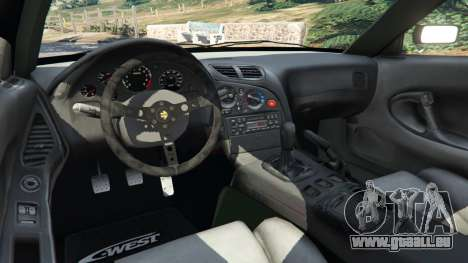 GTA 5 Mazda RX-7 C-West v0.3 arrière droit vue de côté