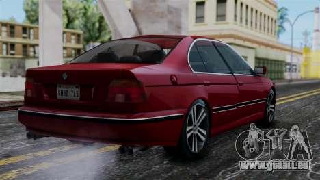 BMW M5 E39 SA Style pour GTA San Andreas laissé vue