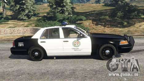 GTA 5 Ford Crown Victoria 1999 Police v1.0 linke Seitenansicht