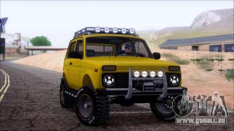 VAZ Niva 2121 Offroad pour GTA San Andreas vue de dessous