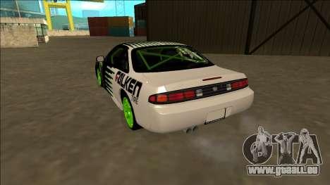 Nissan 200SX Drift Monster Energy Falken pour GTA San Andreas sur la vue arrière gauche