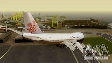 Boeing 747-200 China Airline pour GTA San Andreas laissé vue