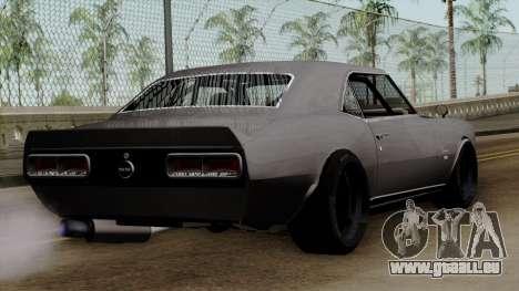 Chevrolet Camaro SS pour GTA San Andreas laissé vue