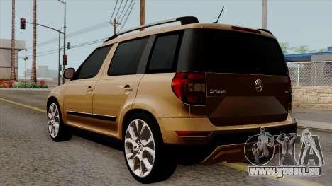 Skoda Yeti 2014 für GTA San Andreas linke Ansicht