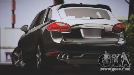 Porsche Cayenne Turbo 2012 pour GTA San Andreas sur la vue arrière gauche