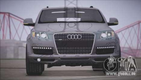 Audi Q7 2008 pour GTA San Andreas laissé vue