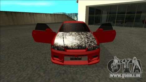 Nissan Skyline R33 Fairlady für GTA San Andreas Innenansicht