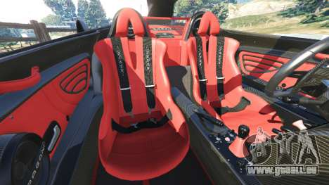 GTA 5 Pagani Zonda Cinque Roadster Lenkrad