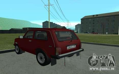 VAZ 21213 Niva pour GTA San Andreas sur la vue arrière gauche
