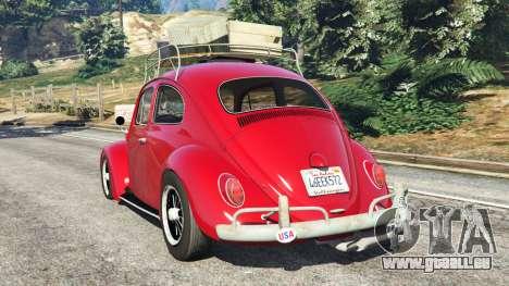 GTA 5 Volkswagen Beetle 1963 [Beta] hinten links Seitenansicht