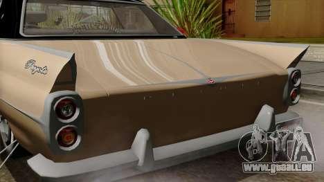 Vapid Peyote Bel-Air pour GTA San Andreas vue intérieure