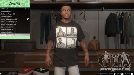 Franklin Hip Hop T-Shirts für GTA 5