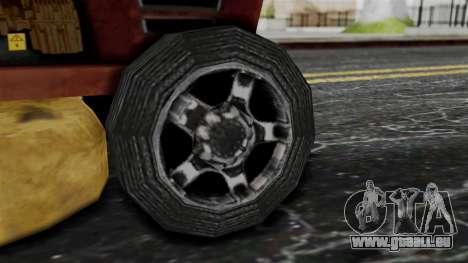 Mower from Bully pour GTA San Andreas sur la vue arrière gauche