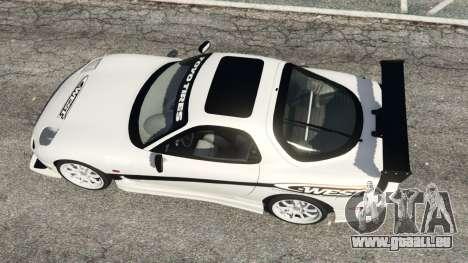 GTA 5 Mazda RX-7 C-West v0.3 vue arrière