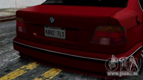 BMW M5 E39 SA Style pour GTA San Andreas vue de droite