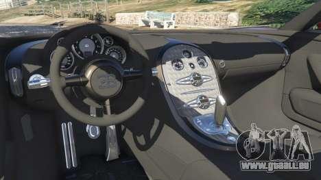GTA 5 Bugatti Veyron Grand Sport v4.1 arrière droit vue de côté