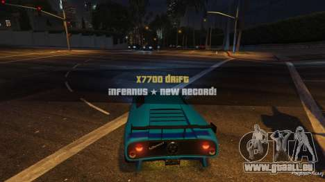Drift HUD pour GTA 5