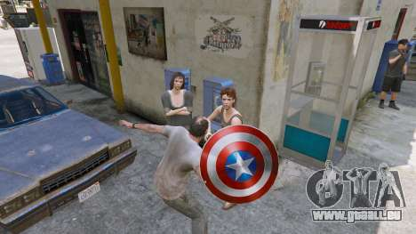 GTA 5 Schild Captain America dritten Screenshot