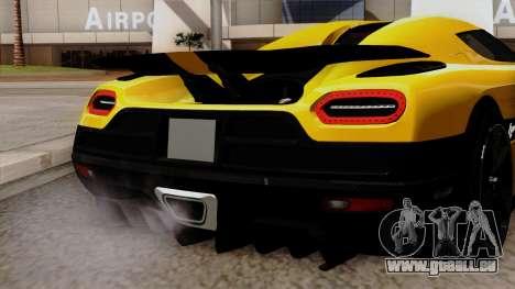 Koenigsegg Agera R 2014 pour GTA San Andreas vue arrière