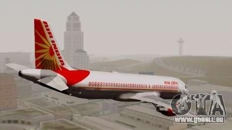 Airbus A320-200 Air India pour GTA San Andreas laissé vue