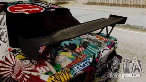 Nissan R13 pour GTA San Andreas vue arrière