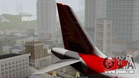 Airbus A320-200 Air India für GTA San Andreas zurück linke Ansicht