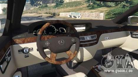 GTA 5 Mercedes-Benz S550 W221 v0.5 [Alpha] hinten rechts