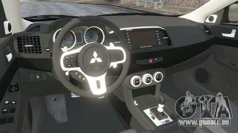 GTA 5 Mitsubishi Lancer Evolution X droite vue latérale