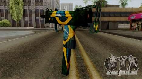 Brasileiro Micro Uzi v2 pour GTA San Andreas deuxième écran