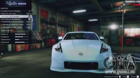 GTA 5 Nissan 370z droite vue latérale