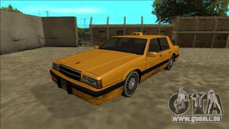 Willard Taxi pour GTA San Andreas sur la vue arrière gauche