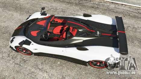 GTA 5 Pagani Zonda Cinque Roadster Rückansicht