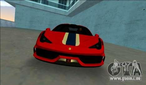 Ferrari 458 Besonderes für GTA Vice City