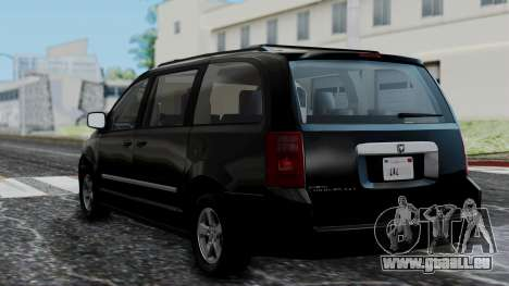 Dodge Grand Caravan 2010 für GTA San Andreas linke Ansicht