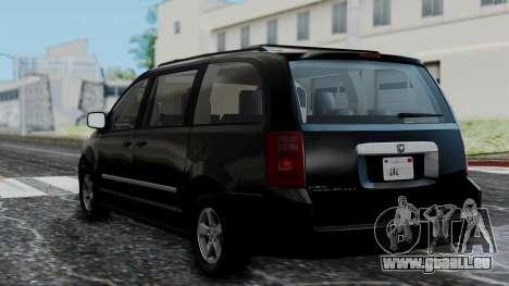 Dodge Grand Caravan 2010 pour GTA San Andreas laissé vue