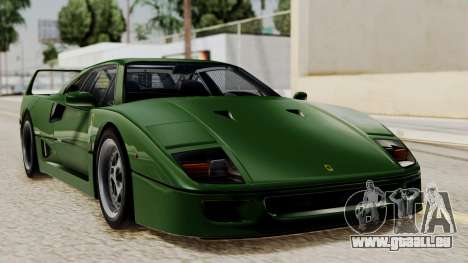 Ferrari F40 1987 with Up without Bonnet IVF pour GTA San Andreas