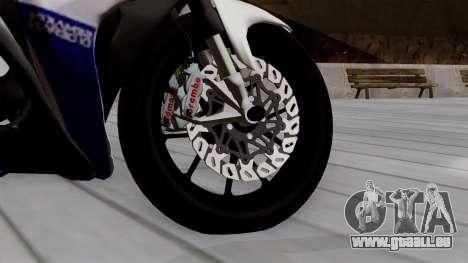 Yamaha YZF R-25 GP Edition 2014 pour GTA San Andreas sur la vue arrière gauche