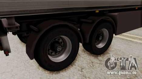 Cooliner Trailer from ETS 2 für GTA San Andreas zurück linke Ansicht