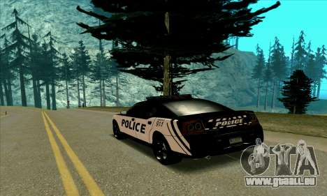 Federal Police Dodge Charger SRT8 pour GTA San Andreas sur la vue arrière gauche