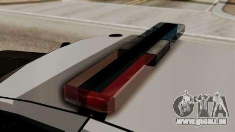 Ford Crown Victoria LP v2 LSPD für GTA San Andreas zurück linke Ansicht