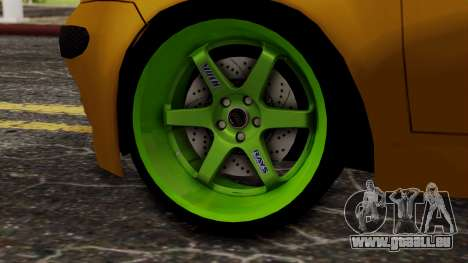 Daewoo Matiz Tuning pour GTA San Andreas sur la vue arrière gauche