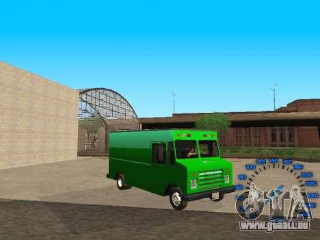 Boxville Sprite pour GTA San Andreas vue arrière