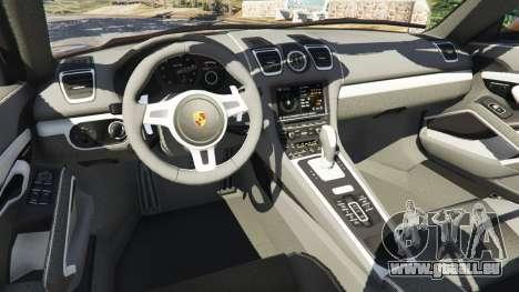 GTA 5 Porsche Boxster GTS droite vue latérale