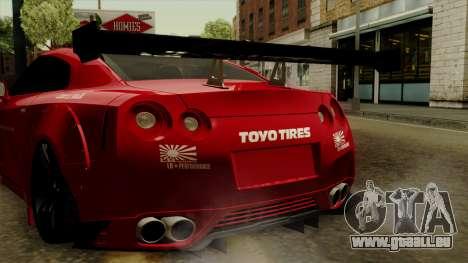 Nissan GT-R Liberty Walk Performance für GTA San Andreas Innenansicht