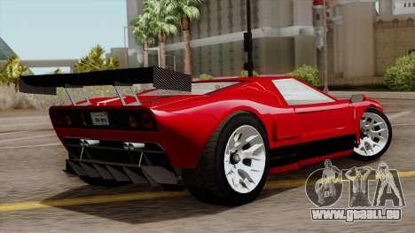 Vapid Bullet GT-GT3 pour GTA San Andreas laissé vue