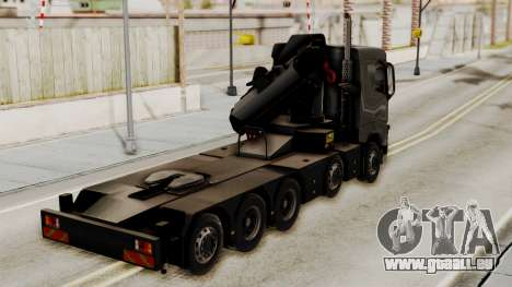 Volvo FH Euro 6 10x4 Exclusive Low Cab für GTA San Andreas linke Ansicht
