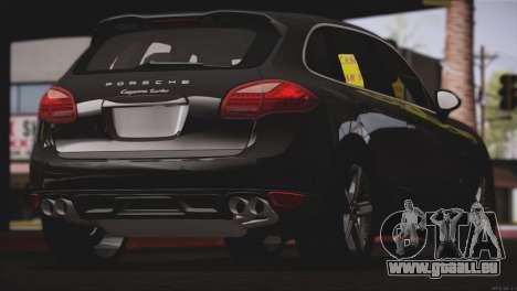 Porsche Cayenne Turbo 2012 für GTA San Andreas Rückansicht